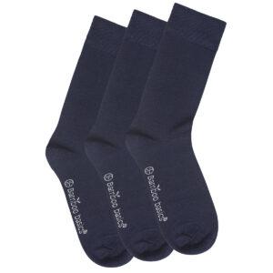 BEAU navy 3-pack sokken