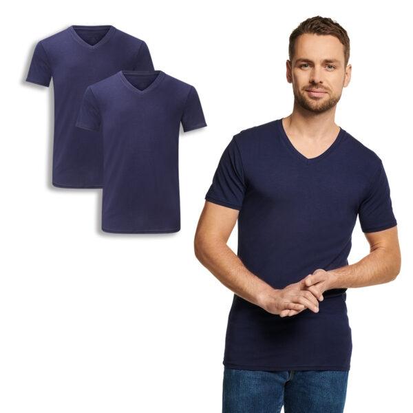 VELO t-shirt v-hals navy