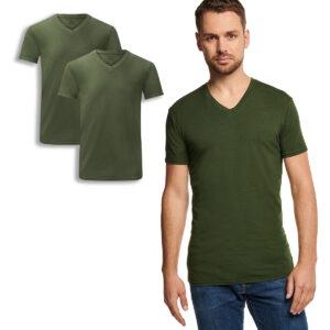 velo t-shirt v-hals army