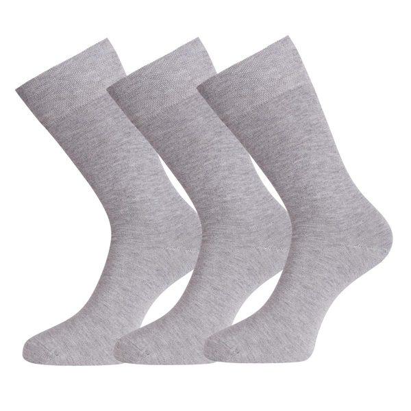 BEAU 3-pack sokken grey melange
