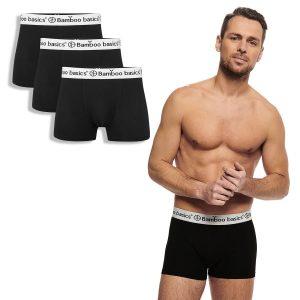 LIAM trunk boxershort zwart met witte band