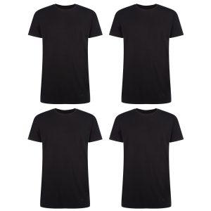 voordeelbundel RUBEN T-shirt ronde hals zwart 4-pack