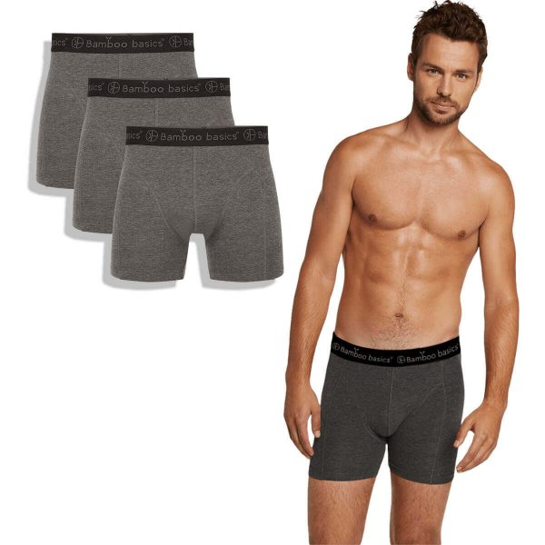Bamboe boxershorts 3-pack grijs