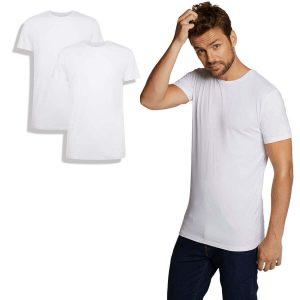 T-shirt van bamboe, ronde hals, wit