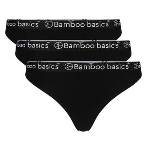 bamboe string dames 3pack zwart