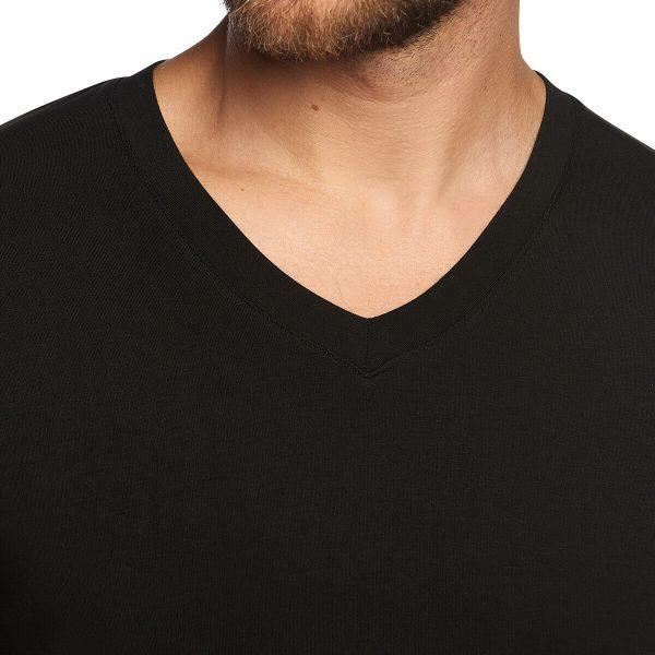 detail t-shirt lange mouw zwart
