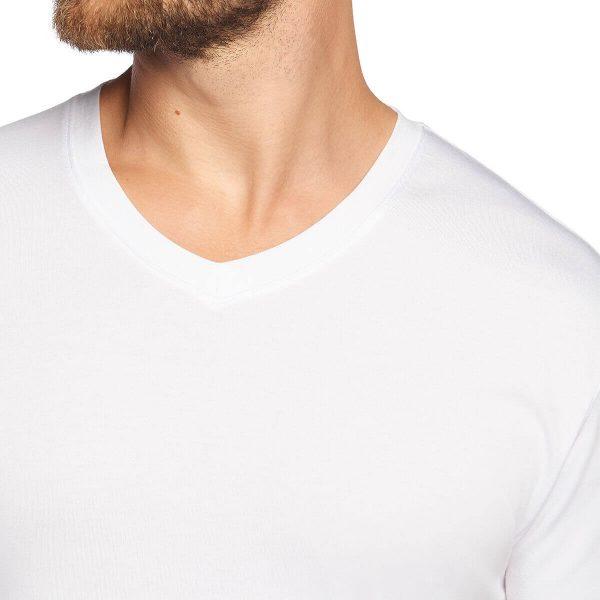 detail bamboe t-shirt lange mouw wit