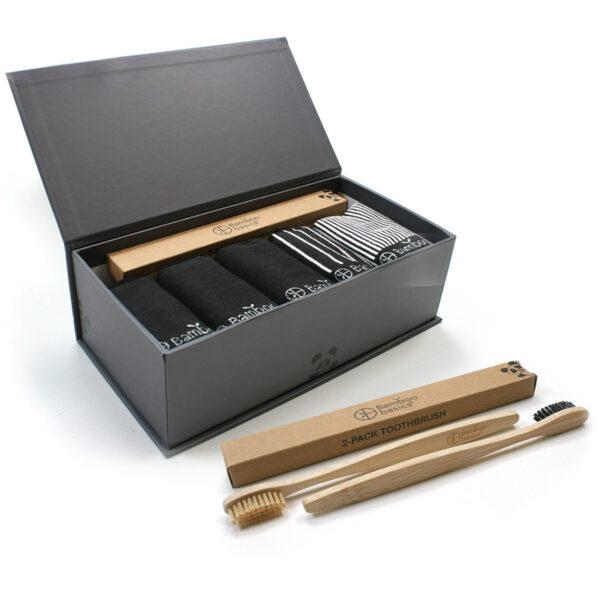 Luxe Giftbox bamboe sokken en tandenborstels