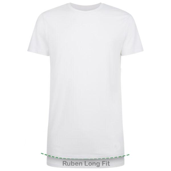 RUBEN long fit 2-pack wit